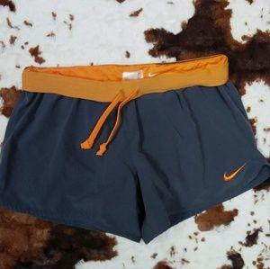 Gray Nike dri fit running shorts